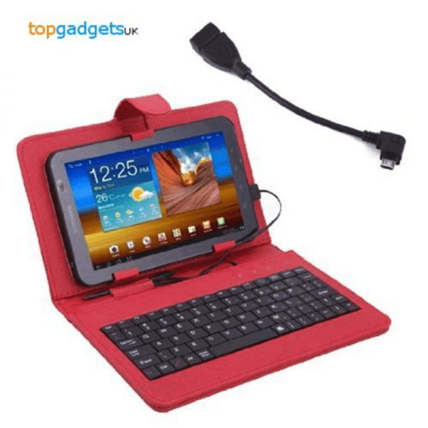 7 Android Tablet Keyboard Case Red (QWERTY) - https ...