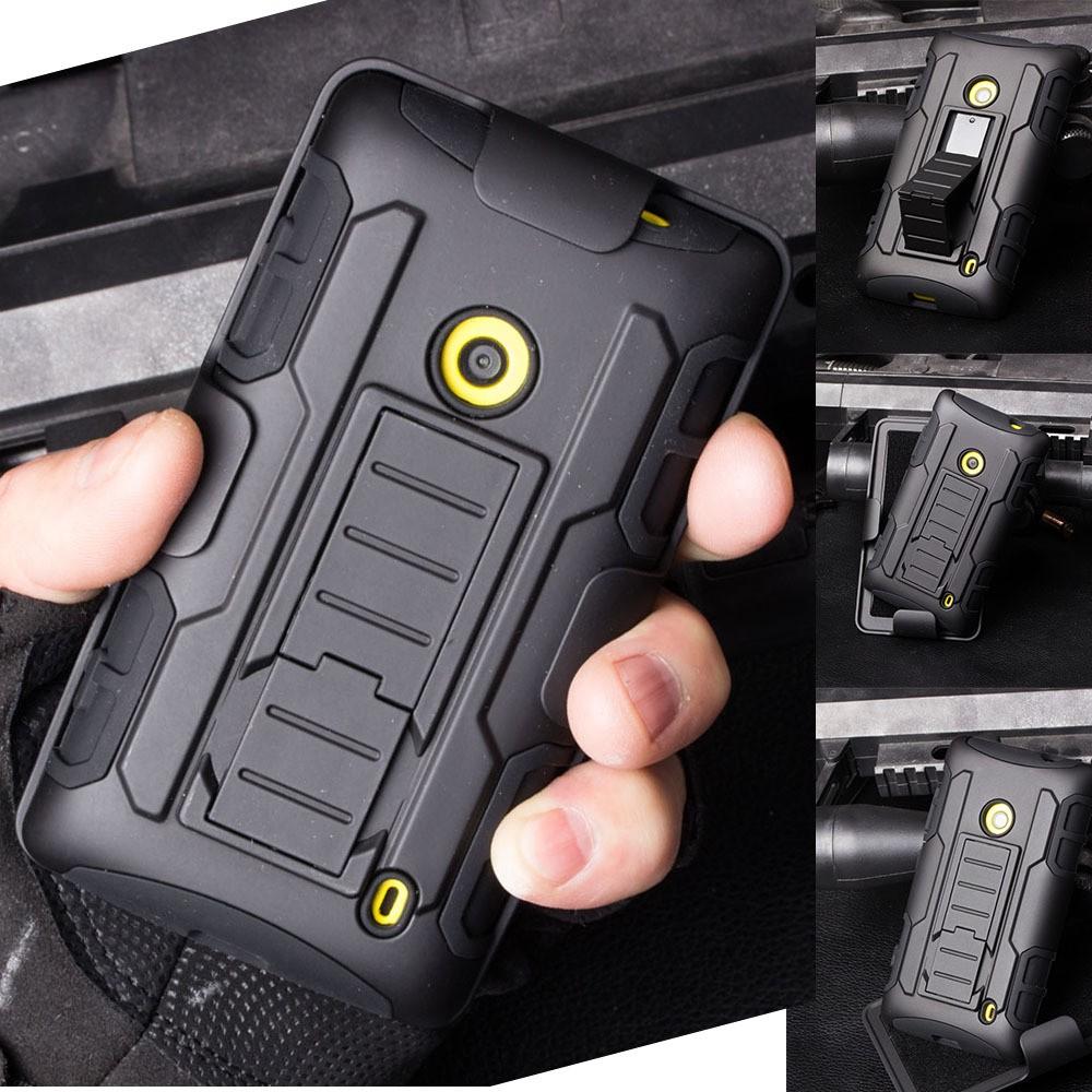 low priced 6e7ff e2b82 Nokia Lumia 520 Tough Shock Proof Heavy Duty Stand Hybrid Hard Case Cover